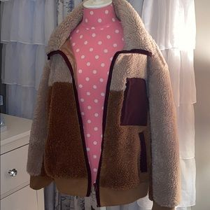American Eagle fleece teddy jacket